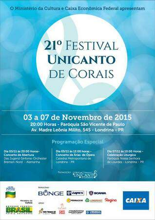 Cartaz do Festival Unicanto