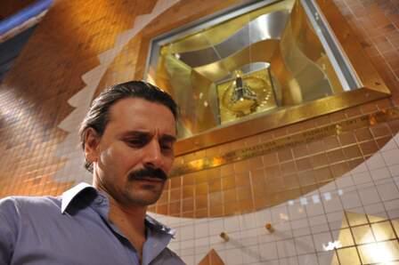Ator Murilo Rosa em gravações do filme